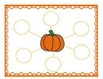 Pumpkin Describing Words worksheet