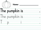 Pumpkin Descriptive Writing