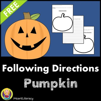 Pumpkin Design - A Following Directions Activity (Free)