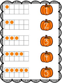 Pumpkin Differentiated Number Ordering 1-20