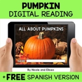 Pumpkin Reading Comprehension for Google Classroom - Dista