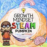 Pumpkin Directed Drawing Growth Mindset Halloween STEAM Activity