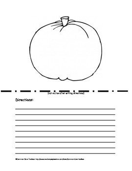 Pumpkin Following Directions Activity