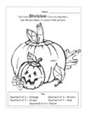 Pumpkin Division and Subtraction Color by Numbers - FREEBIE!