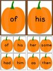 Pumpkin Dolch First Grade Sight Word Flashcards and Posters