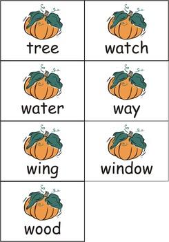 Pumpkin Dolch Nouns Sight Words eBook