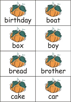 Pumpkin Dolch Nouns Sight Words eBook