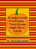 Pumpkin Dolch Pre-Primer - Third Grade Sight Word Flashcards and Posters