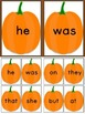 Pumpkin Dolch Primer Sight Word Flashcards and Posters