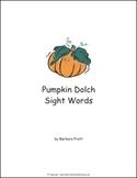 Pumpkin Dolch Sight Words eBook (5 lists)