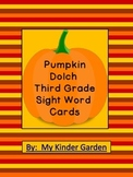 Pumpkin Dolch Third Grade Sight Word Flashcards and Posters