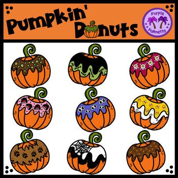 Pumpkin Donuts Clipart (Doughnuts)