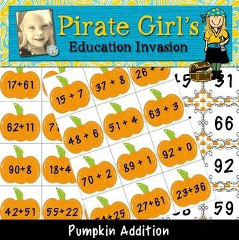 Pumpkin Double Digit Mental Math