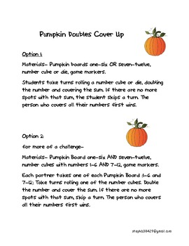 Pumpkin Doubles Cover Up