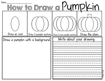 Halloween Pumpkin Draw and Write Freebie