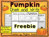 Halloween Pumpkin Draw and Write Freebie