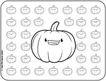 Pumpkin Drill Sheet
