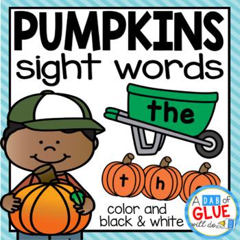 Pumpkin Editable Sight Word Activity