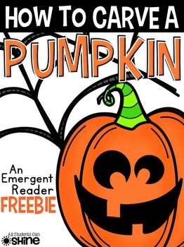 Pumpkin Emergent Reader FREEBIE