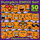 Pumpkin Emoji Clipart Faces / Pumpkin Fall Halloween Emoji