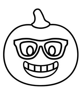 Pumpkin Emoji Writing