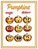 Pumpkin Emojis Art, Stickers, Clip Art, Classroom, Fall, Halloween, Autumn