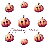Pumpkin Emoticons - Clipart