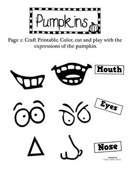 Pumpkin Emotions Cutting Practice