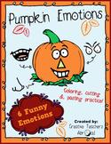 Build a Pumpkin Emotions - Cutting Practice