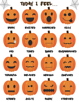 Pumpkin Emotions Freebie Pumpkin Emotions Freebie