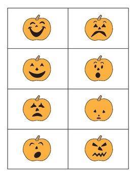 Pumpkin Emotions Matching Cards