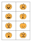Pumpkin Emotions Matching Cards