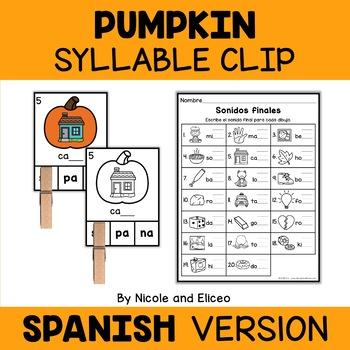 Spanish Pumpkin Literacy Center 3