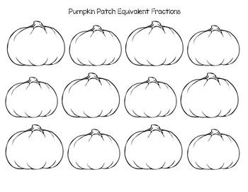 Pumpkin Equivalent Fractions