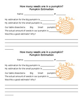 Pumpkin Estimation