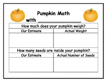 Pumpkin Estimation & Measurement