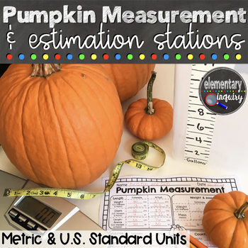 Pumpkin Measurement Halloween Math Activity with Metric and Standard Conversions