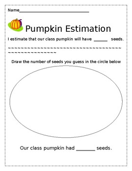 Pumpkin Estimation for Young Students