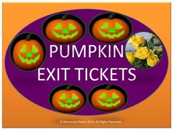 Pumpkin Exit Tickets