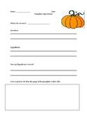 Pumpkin Experiment Recording Sheet