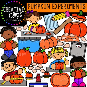 Pumpkin Experiments: Fall Clipart {Creative Clips Clipart}