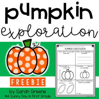 Pumpkin Exploration {freebie!}