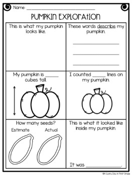 Pumpkin Exploration (freebie!)