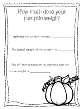 Pumpkin Exploration Activity Pack