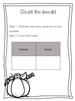 Pumpkin Exploration Activity Pack