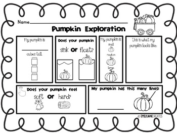 Pumpkin Exploration FREEBIE