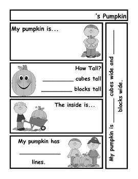 Pumpkin Exploration Recording Sheet