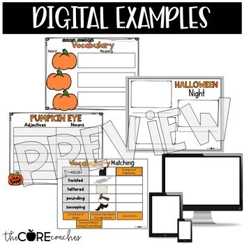Pumpkin Eye Interactive Read-Aloud Lesson Plans and Activities