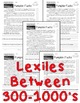 Pumpkin FACTS Close Read 5 levels 300-1000Lexiles Info Tex