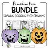 Pumpkin Face Coloring & Drawing Bundle